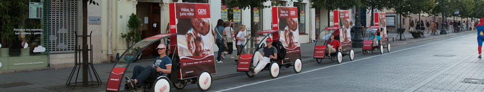 Reklamos velomobiliai
